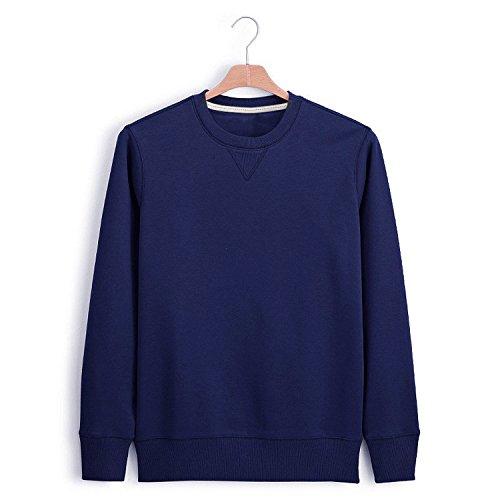 Lisux Reiner Baumwolle um den Hals Pullover um den Hals Pullover schlanke männer Pullover,tibetische grüne Farbe,XL