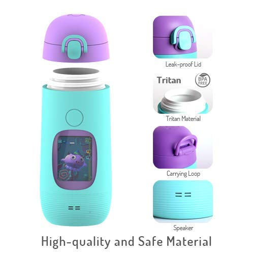 Smart Water Bottle for Kids - GululuGo Interactive Water Bottle Includes Games and Stories Along with a Health Tracking Smartphone App, 350ml Smart Water Bottle for Kids by Gululu (Image #1)