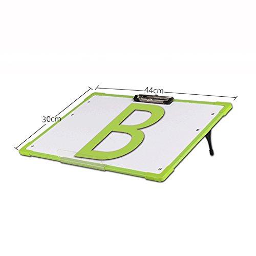 QFFL イーゼル子供磁気黒板の赤ちゃんは、タブレットの赤ちゃんのおもちゃのキャリッジホワイトボード2色を描画する学習 スケッチパッド (色 : Green)