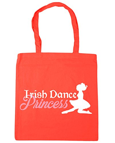 Princess Tote Bag Irish Beach Gym Shopping Dance 42cm Coral HippoWarehouse 10 x38cm litres q0ERtwxCx