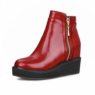 RTRY Women'S Boots Spring Fall Winter Platform Comfort Novelty Patent Leather Leatherette Wedding Office &Amp; Career Dress Casual Party &Amp; Evening US3 / EU34 / UK2 Little Kids fqEjK0