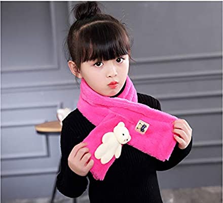 Fashion Kids Cartoon Plush Ring Scarves Boys Girls Winter Warm Neck Wraps Scarf