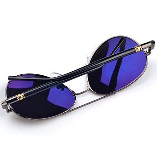 Mujer Anteojos Lente Polarizadas Sunglasses Gris Gafas Protección LINNUO UV Vintage Sol Eyeglasses Conducción de Aviador de Hombre AcqwYRT
