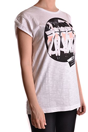 Mujer Franchi Algodon T shirt Blanco Elisabetta Ezbc050013 wqEpng