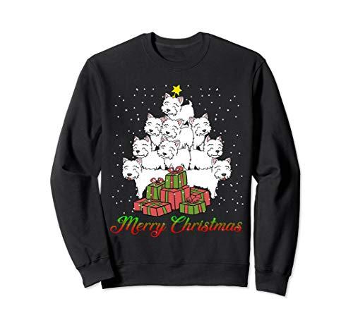 (Christmas Sweater Shirt Dog Westie Xmas Tree Gift)