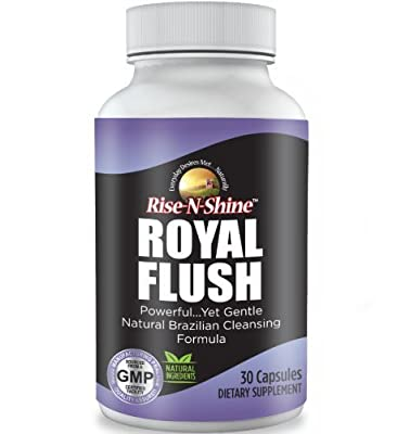 Royal Flush - Natural Cleansing Formula Intended to Support a Healthy Digestive System and Metabolism made with Senna Leaves, Cascara Sagrada Bark, Black Walnut Hulls,Bentonite Clay & Acai Fruit