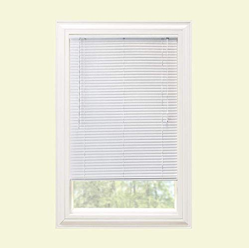 Hampton Bay White 1 in. Room Darkening Vinyl Mini Blind – 51 in. W x 72 in. (Actual Size 50.5 in. W x 72 in. L) (1 Pack)