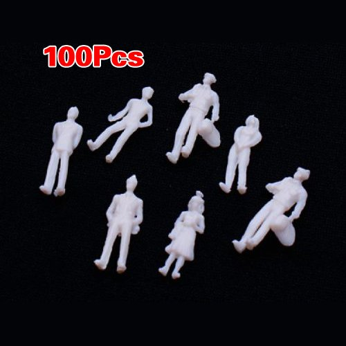 Approx. 100pcs Light Grey Model Train People Figures Scale TT (1 to 100)