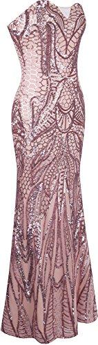 En La Mujer Sin Rosa Angel De Del Cuerpo Vestido Entero Paillette Piso fashions Columna Tirantes Muescas Envoltura Ip1ntBq
