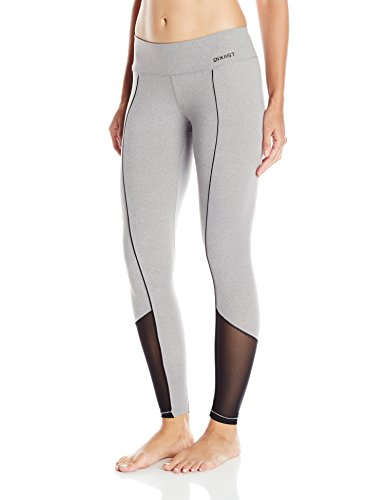 2(x)ist Women's Solid Contrast Legging, Grey, Small