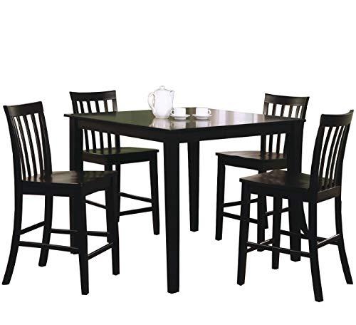 Ashland Black Counter Height 5 Piece Dining Set