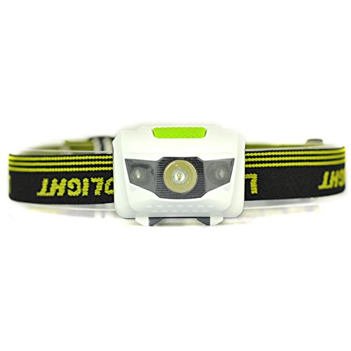 Xtreme Lighted Running Board (1 Pc Hair-Raising Fashionable Mini Head Lamp 600 Lumen R3+2 LED Flashlight Headlamp 4 Modes Headlight Ultra Xtreme Tactical Light Running Hiking Hunting Fishing Camping Lights Color Green w/ Headband)