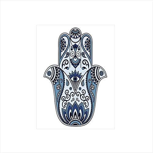 - Decorative Privacy Window Film/Mystical Ancient Civilizations Culture Protective Power Luck Evil Eye/No-Glue Self Static Cling for Home Bedroom Bathroom Kitchen Office Decor Pale Blue Indigo Baby Blue