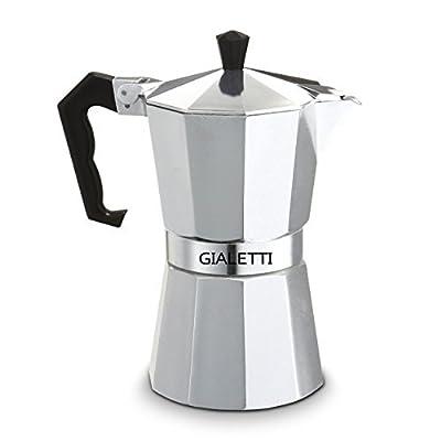 Gialetti Stovetop Espresso Pot Coffee Maker, 6 Cups, Silver
