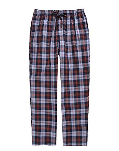 TINFL Boys Plaid Check Soft 100% Cotton Lounge Pants BLP-PM01-Navy-L
