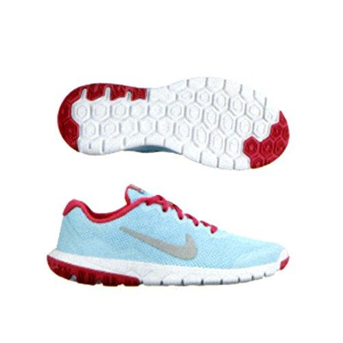 Galleon - Nike 749818-400 Flex Experience 4 (GS) Blue White Running Unisex  Youth Size (boy girl men 5   Women 6.5) cbc0239e5c