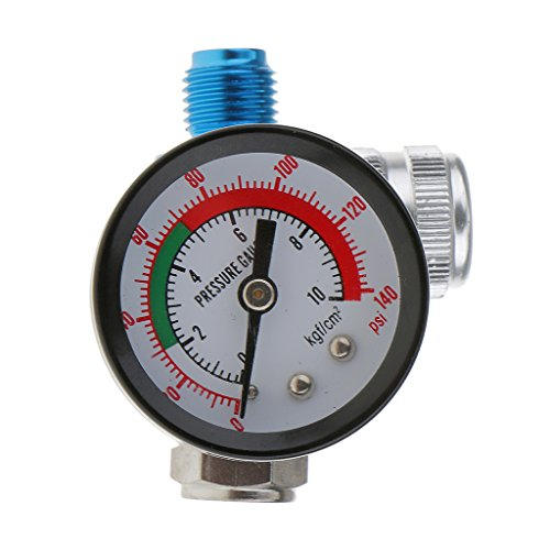 - MagiDeal Digital Spray Paint Gun Regulator Air Pressure Gauge 1/4