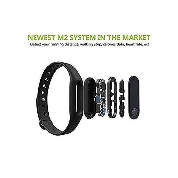41j4S19 cSL RunSale Sports Smart Fitness Band 2 Bracelet/Fitband with Heart Rate Monitor Sensor M2 OLED Bluetooth Wristband…