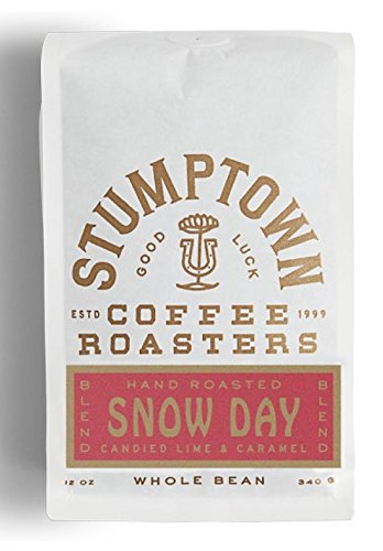 STUMPTOWN Coffee Roasters Uncut Bean SNOW DAY Direct Trade, 12 oz Roasted in Small Batch in Los Angeles, California