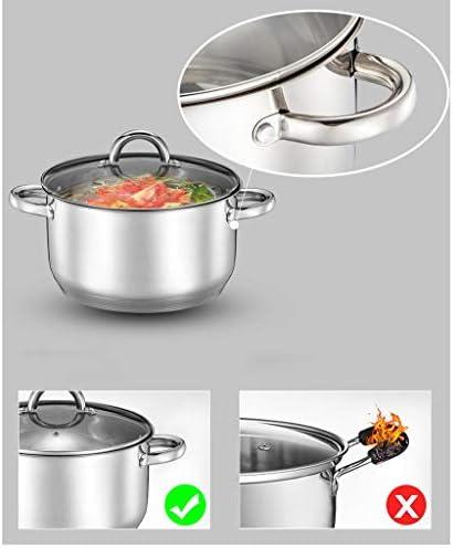 DYXYH 304 épais pot soupe marmite en acier inoxydable pot antiadhésif cuisinière à induction cuisinière universelle