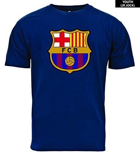 3c935841c93a8 Levelwear 00CJ92DS0013R17001UNAVY004YXLG Youth FC Barcelona Junior Jock  Core Logo Tee