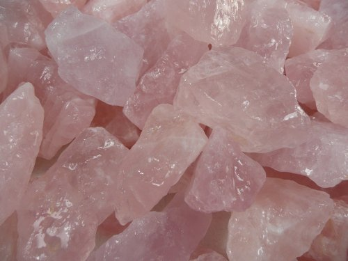 Fantasia Materials: 1 lb Rose Quartz AAA Grade from Brazil - Raw Natural Crystals for Cabbing, Cutting, Lapidary, Tumbling, Polishing, Wire Wrapping, Wicca and Reiki Crystal HealingWholesale ()