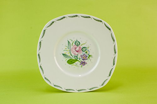 2 Pottery Vintage Fragrance PLATES Service Fruit Susie Cooper Mid-Century Modern Large English Mid 20th Century LS