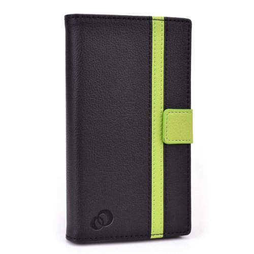 Lenovo S930 Case Cover with Slide Backing for Camera Access | Black and Bright Green + ND Velcro Tie