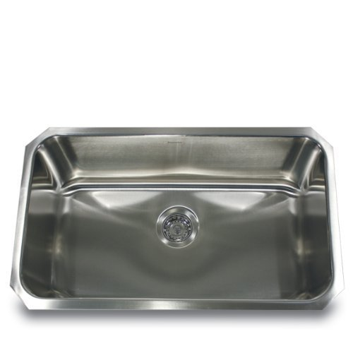 Nantucket Sinks NS3018-10-16 30'' Large Rectangle, Stainless Steel Undermount Kitchen Sink by Nantucket Sinks by Nantucket Sinks
