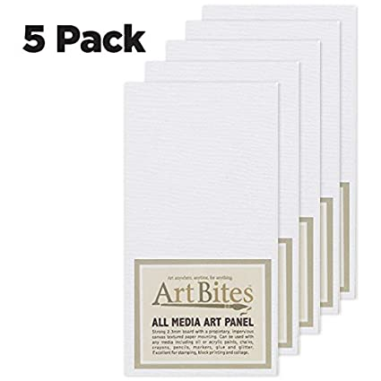 ArtBites Canvas Textured Boards 5-pack 2x2 Creative Mark