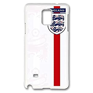 Galaxy Note 4 Case, Creativity Design England Shirt Badge Print Pattern Perfection Case [Anti-Slip Feature] [Perfect Slim Fit] Plastic Case Hard White Covers for Samsung Galaxy Note 4