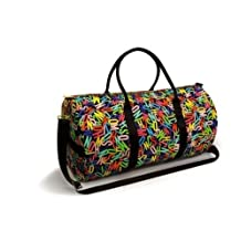 Moschino Travel / Gym / Overnight Large Bag Unisex Multi-colored With Gold Zipper