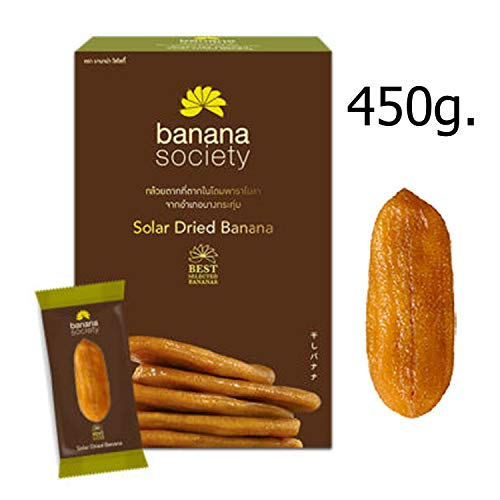 Solar Dried Banana Snack Thai Fruit Natural Soft Delicious Food Party Dried (450g. Solar Dried Banana)