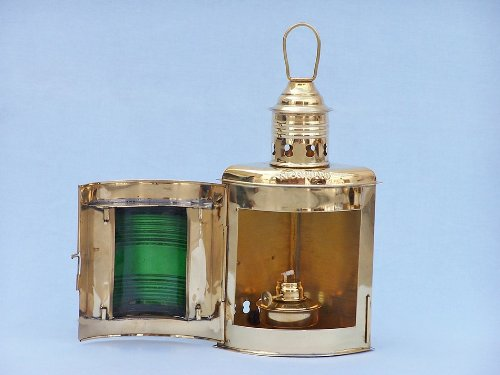 Port and Starboard Oil Lantern (Set of 2) Finish: Solid Brass by Handcrafted Model Ships (Image #6)