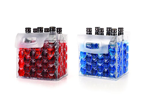 True The Bottle Bubble Freeze Protector for Six Packs by, 12.25'', Multi Color by True