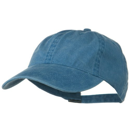 Otto Caps Washed Solid Pigment Dyed Cotton Twill Brass Buckle Cap - Sky Blue OSFM (Dyed Twill Cap Pigment Solid)