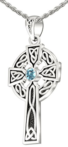 - US Jewels And Gems Men's 0.925 Sterling Silver Simulated Aquamarine 1.5