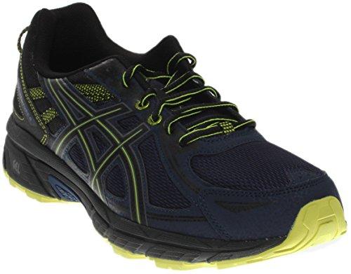 ASICS Men's Gel-Venture 6 Running-Shoes, Indigo Blue/Black/Energy Green, 10 Medium - Running Blue