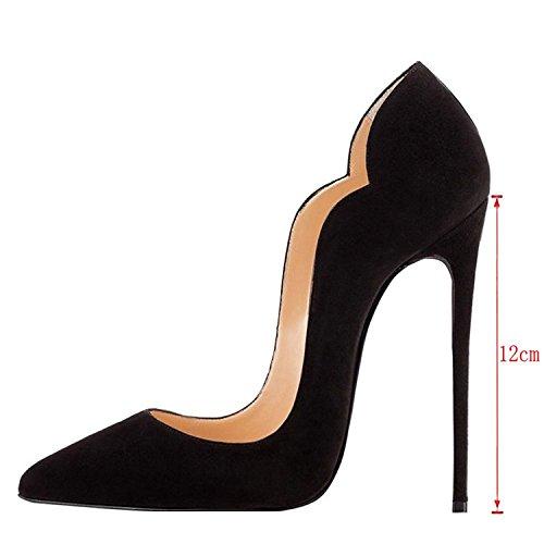 Chaussures Edefs Talons Escarpins Hauts Pointus À Femme Noir Bouts qHT0HW1PZ