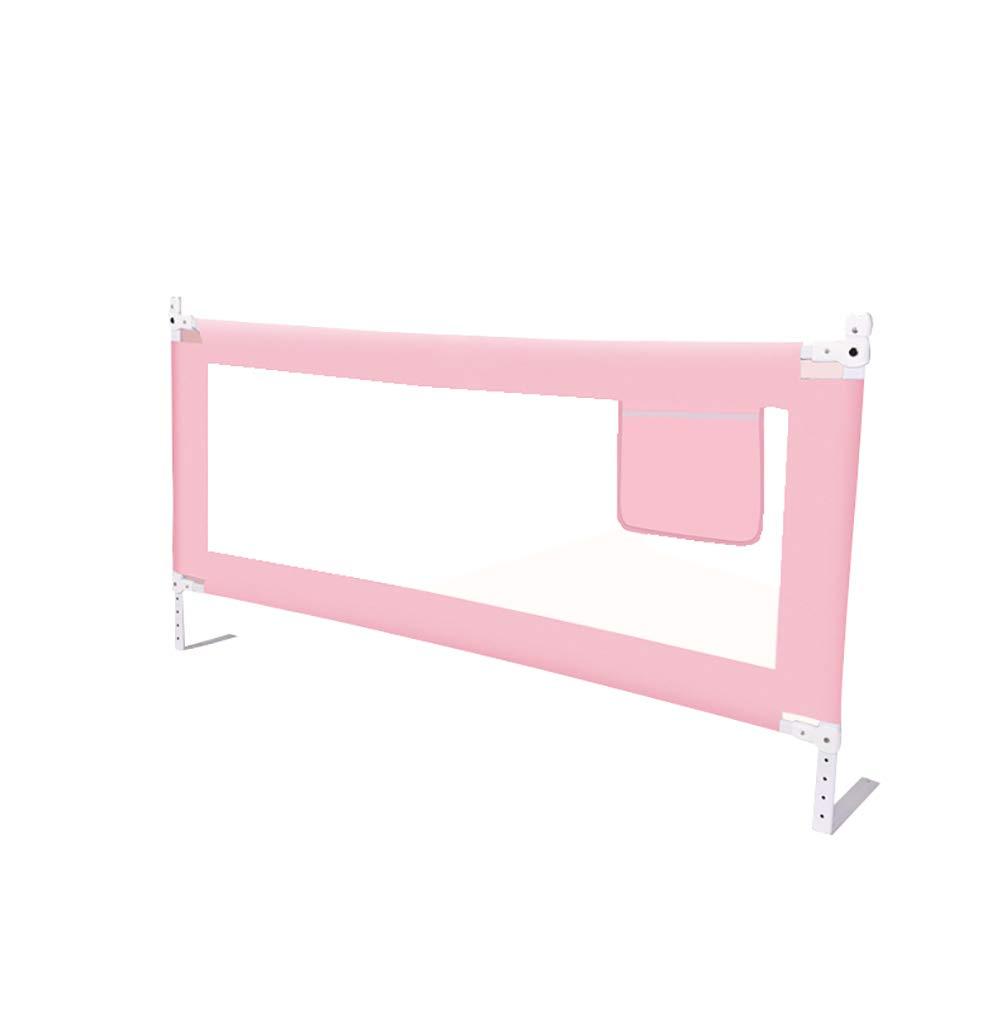 垂直リフティングベッドレールアンチ秋ガードレールベビーベビー子供一般的な幼児のベッドサイドベッドブロック (色 : Pink, サイズ さいず : 2m) 2m Pink B07K46GZYM