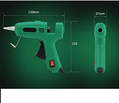 Xing zhe DIY・スクールクラフトプロジェクトのためのホットメルト接着ガン、スイッチ付き25Wミニ一時接着ガン、ホームクイック修理、祭りの装飾 贈り物 (Color : Green)