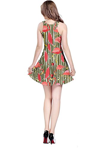 CowCow - Vestido - para mujer Sea Green & Indian Red