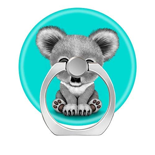 (360 Degree Rotation Socket, Cell Phone Pop Grip Stand Works for All Smartphone and Tablets - Cute Baby Koala Bear Cub On Blue.)