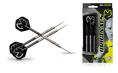 ae5c9e227351 XQ Max Darts Michael Van Gerwen MvG Original 90% Tungsten 25gm Steel tip  Dart Set