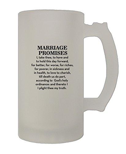 Style In Print Marriage Promises I Take Three To Have Aà Funny Love Frosted Glass Stein Beer Mug -