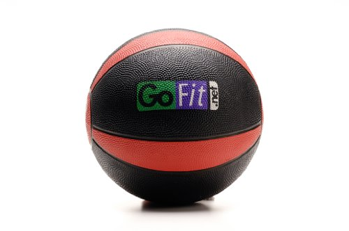 GoFit GF-MB8 8lb Medicine Ball with Training Manual