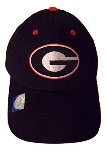 NCAA Georgia Bulldogs Structured Adult Black Logo Cap ()