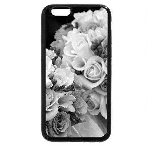 iPhone 6S Plus Case, iPhone 6 Plus Case (Black & White) - Lovely bouquets