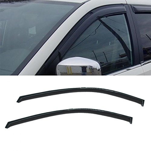 Plymouth Grand Voyager Door - VioGi 2pcs Front Door Dark Smoke Outside Mount Style Sun Rain Guard Vent Shade Window Visors Fit Dodge Caravan/Grand Caravan Chrysler Town & Country Plymouth Voyager/Grand Voyager