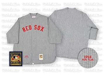 cheap for discount f6dcb 02c71 Babe Ruth 1918 Boston Red Sox Authentic Road Throwback ...